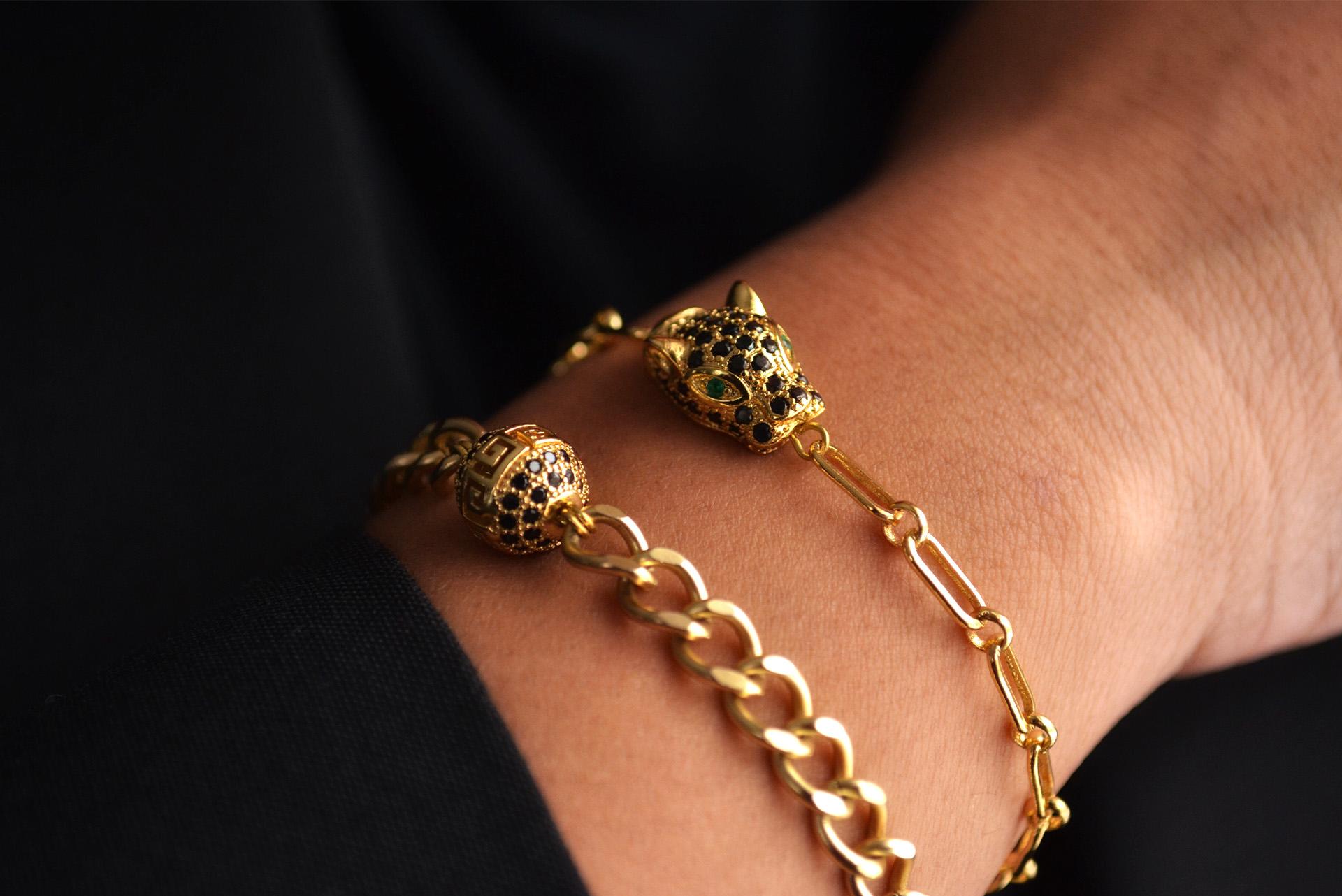 Close up image of two bracelets