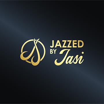 Jazzed by Jasi Logo on black background